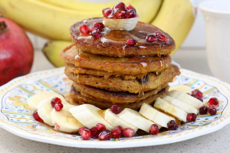 Gesunde Pancakes mit Kürbis | gesundes Frühstück