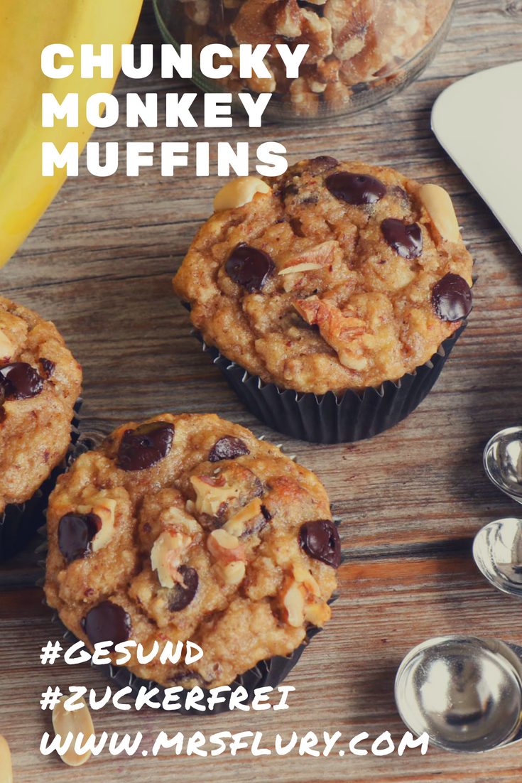 Gesunde Bananen Muffins zuckerfrei