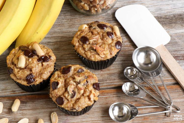 Chunky Monkey Muffins | Gesunde Bananen Muffins