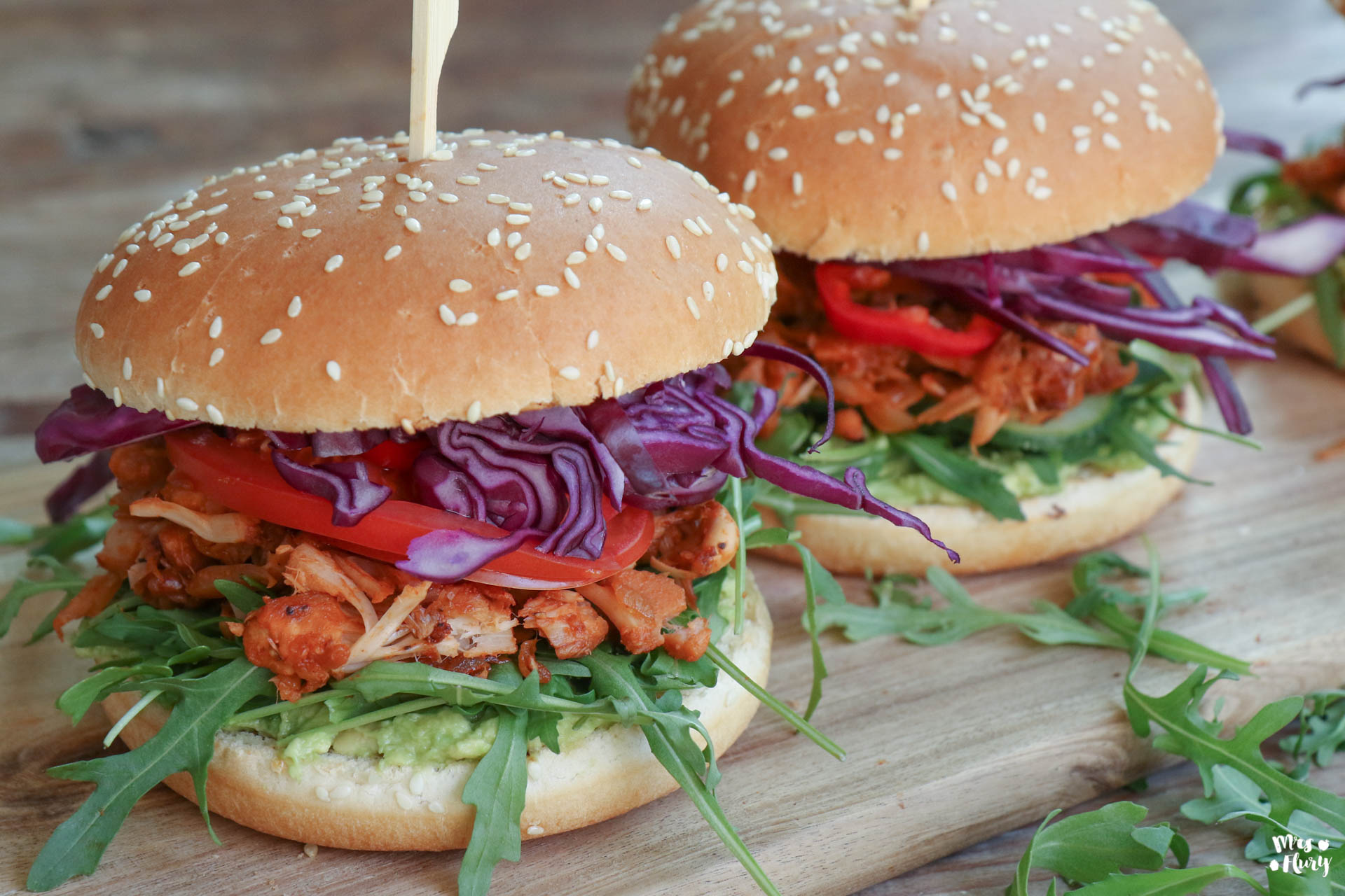 Vegane Jackfruit Burger Mrs Flury