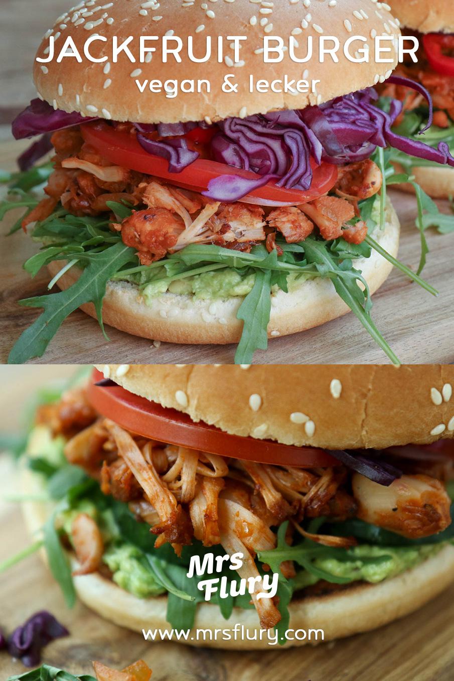 Jackfruit Burger vegan Rezept Mrs Flury