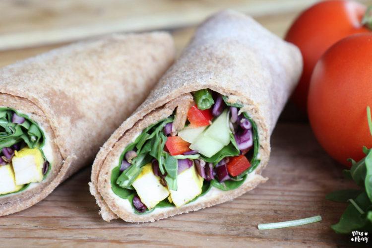 Vollkorn Wraps selber machen, Tortillas Rezept