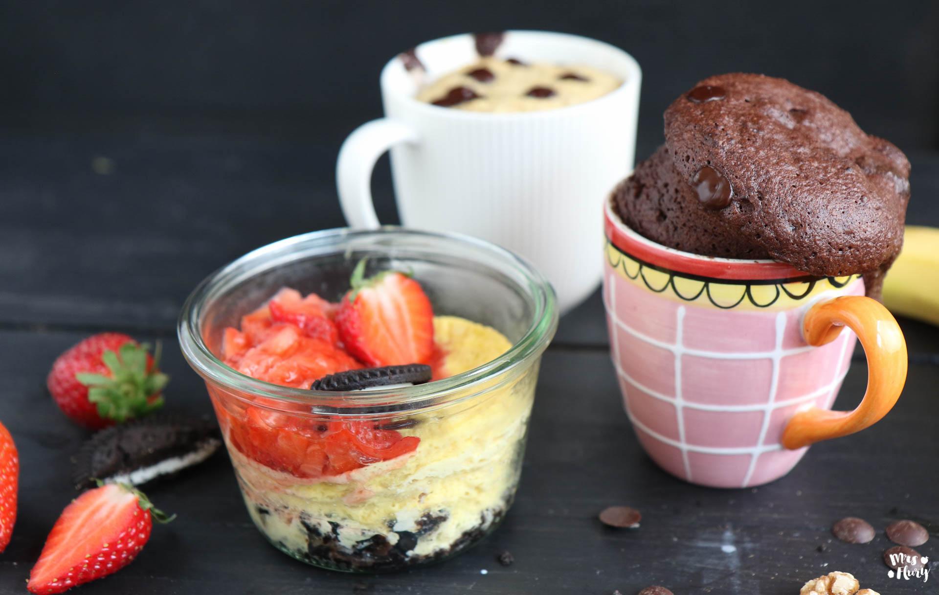 Mug Cakes Drei Gesunde Tassenkuchen Mrs Flury Gesund Essen Leben