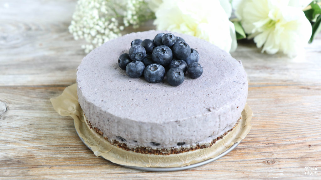 Heidelbeer Cheesecake Vegan Mrs Flury Gesund Essen Leben