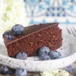 Gesunder Schokokuchen vegan und glutenfrei, ohne weissen Zucker