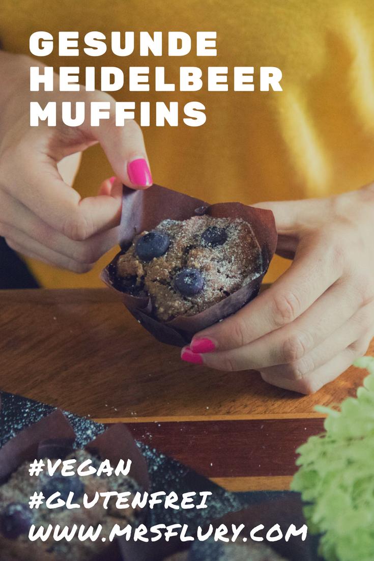 Gesunde Heidelbeer Muffins vegan & glutenfrei Mrs Flury