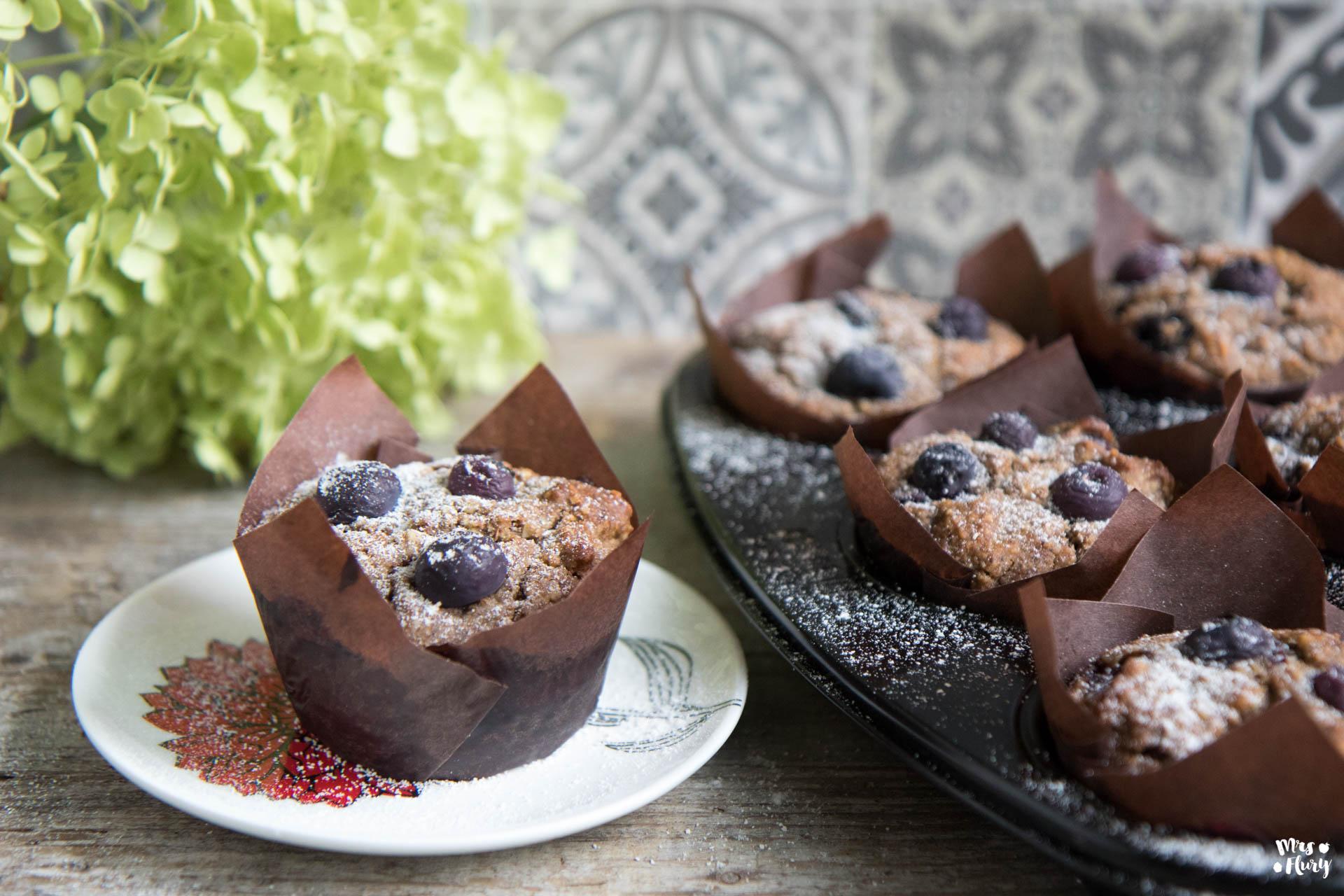 heidelbeer muffins vegan und glutenfrei mrs flury gesund essen leben. Black Bedroom Furniture Sets. Home Design Ideas