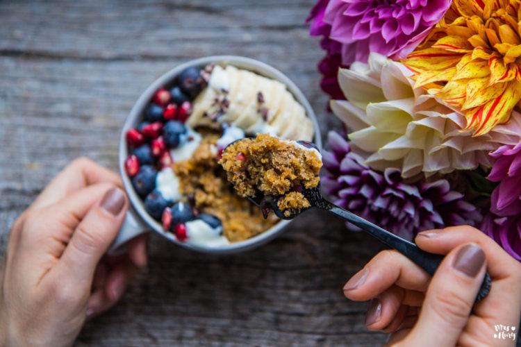 Kürbis Haselnuss Tassenkuchen vegan & glutenfrei
