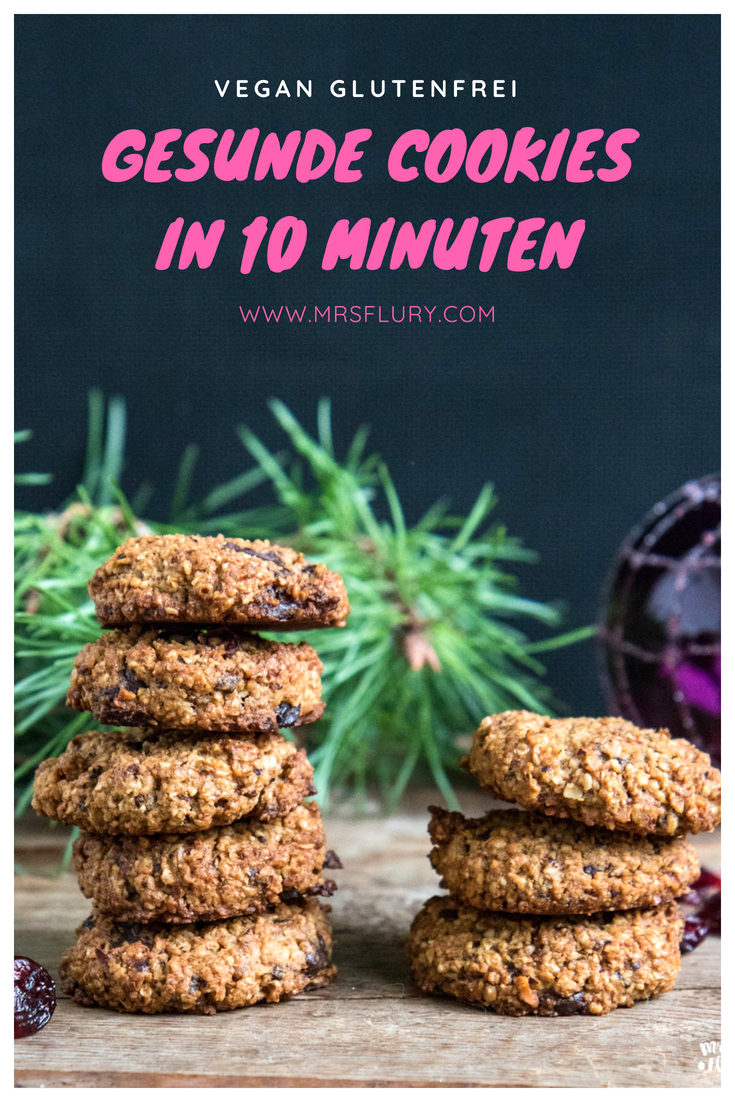 Gesunde Cookies in 10 Minuten vegan
