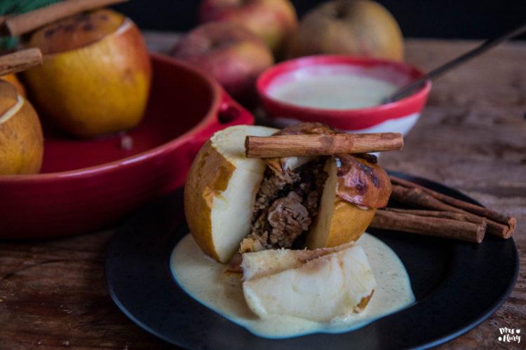 Gesunder Bratapfel mit Vanillesauce – vegan & glutenfrei