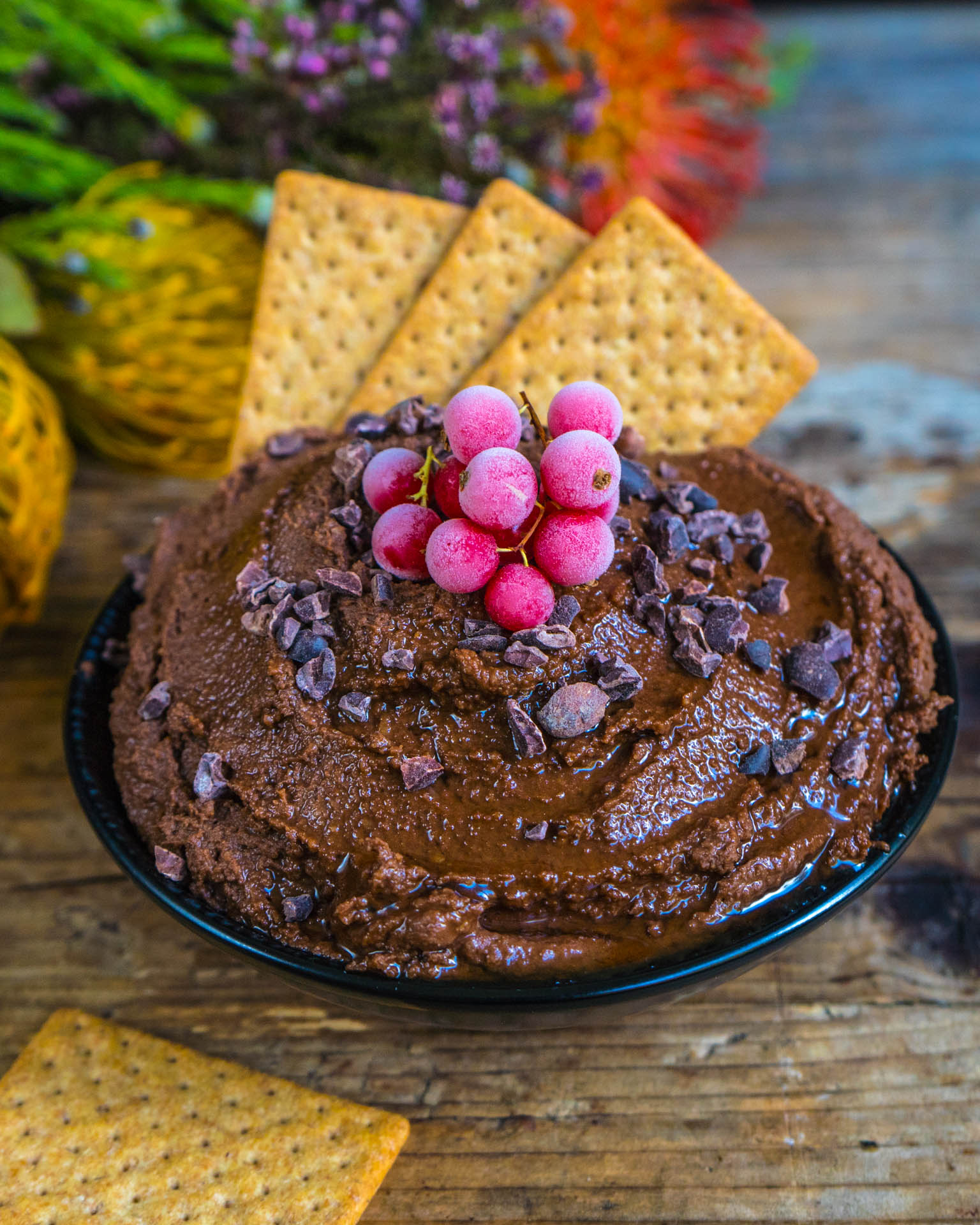 Schoko Hummus - Protein Nutella Rezept vegan Mrs Flury