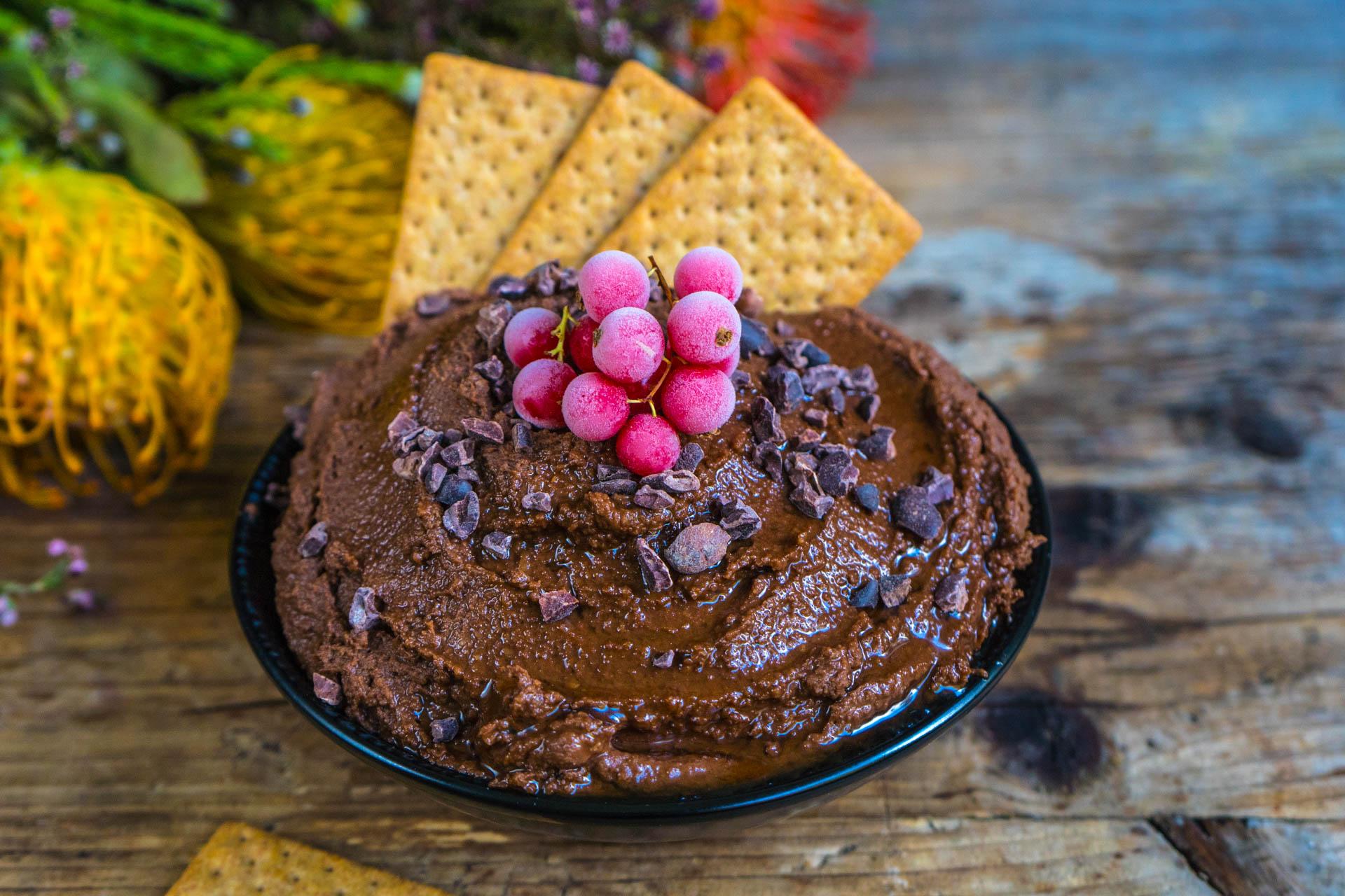 Protein Nutella gesund Rezept vegan Mrs Flury