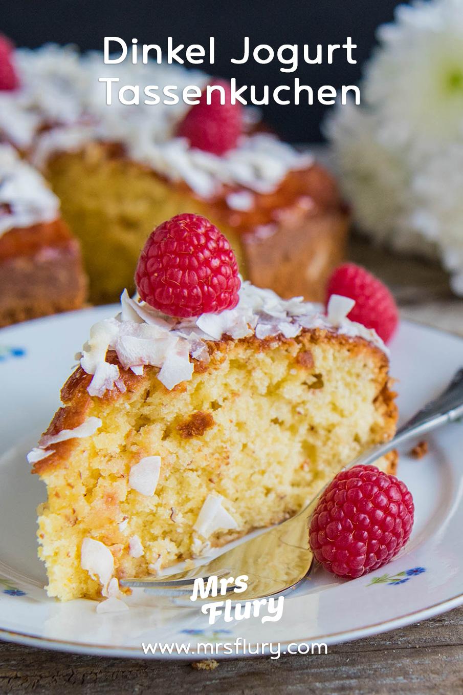 Saftiger Dinkel Jogurt Tassenkuchen - Backen ohne Waage Mrs Flury