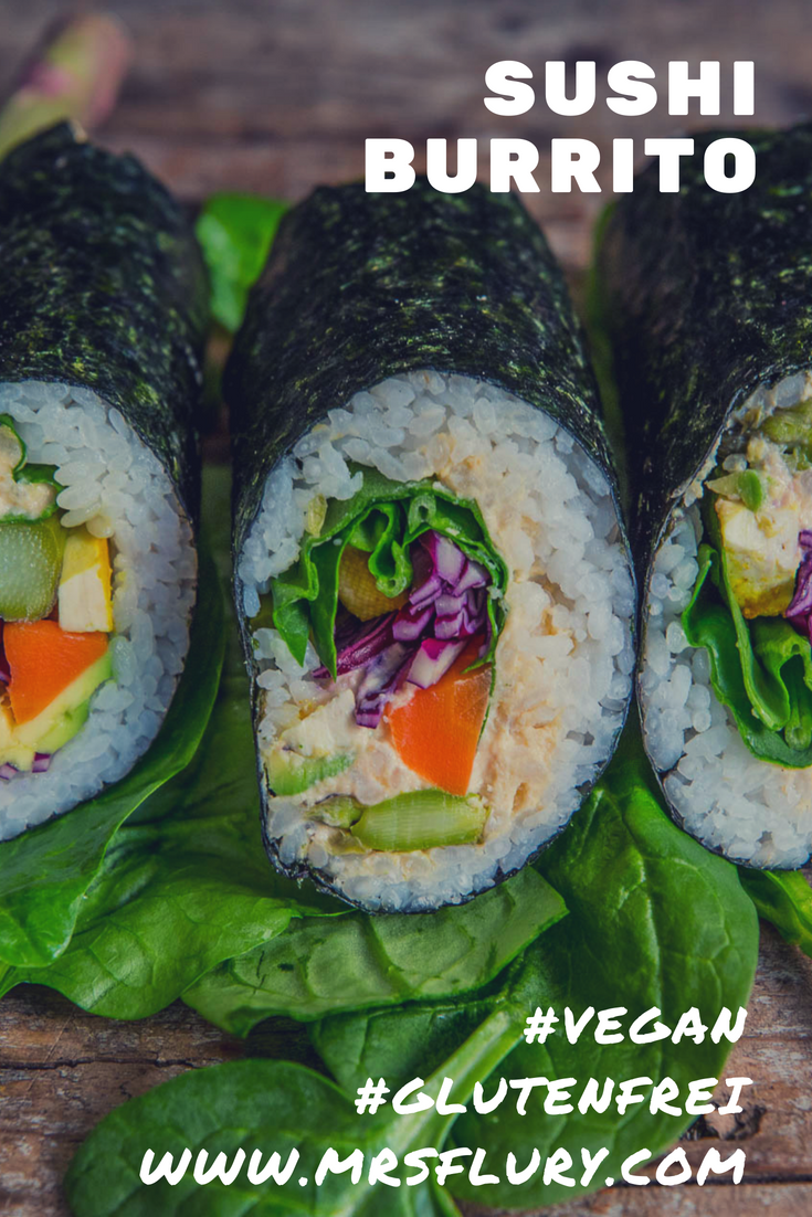Sushi Burrito vegan gesund Mrs Flury