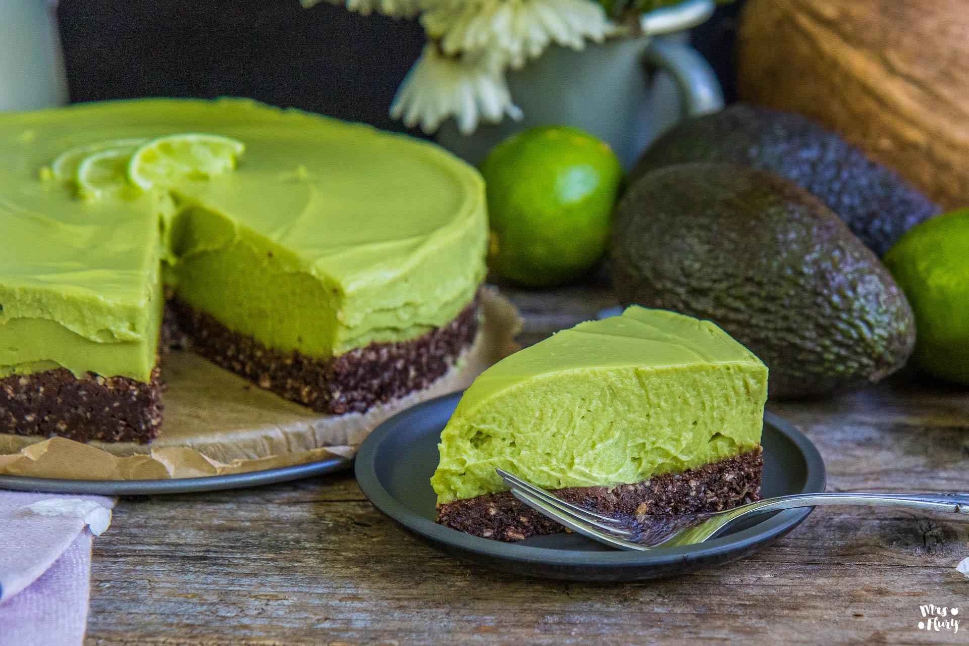 Avocado Cheesecake vegan