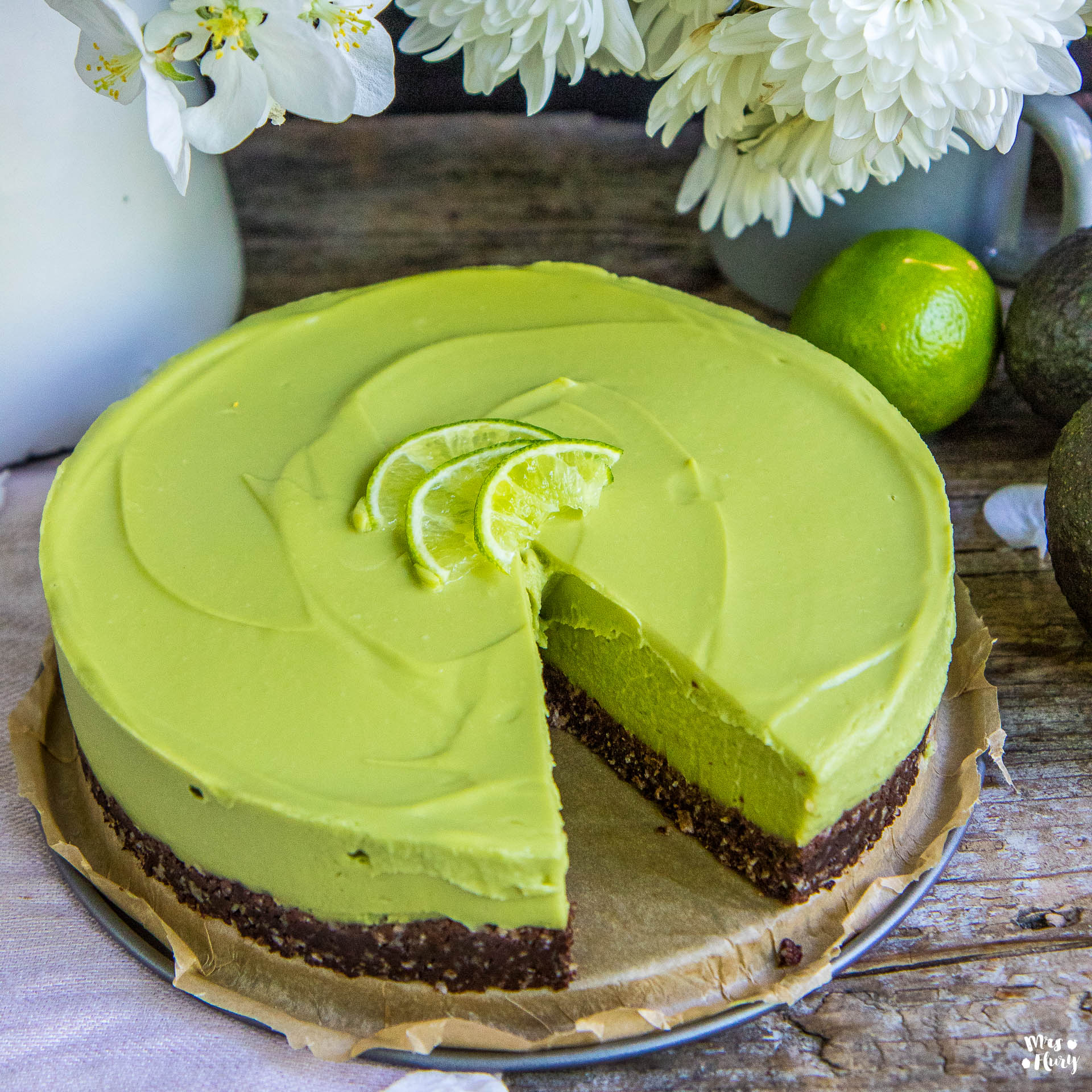 Avocado Cheesecake Vegan Glutenfrei Zuckerfrei Rezept Mrs Flury