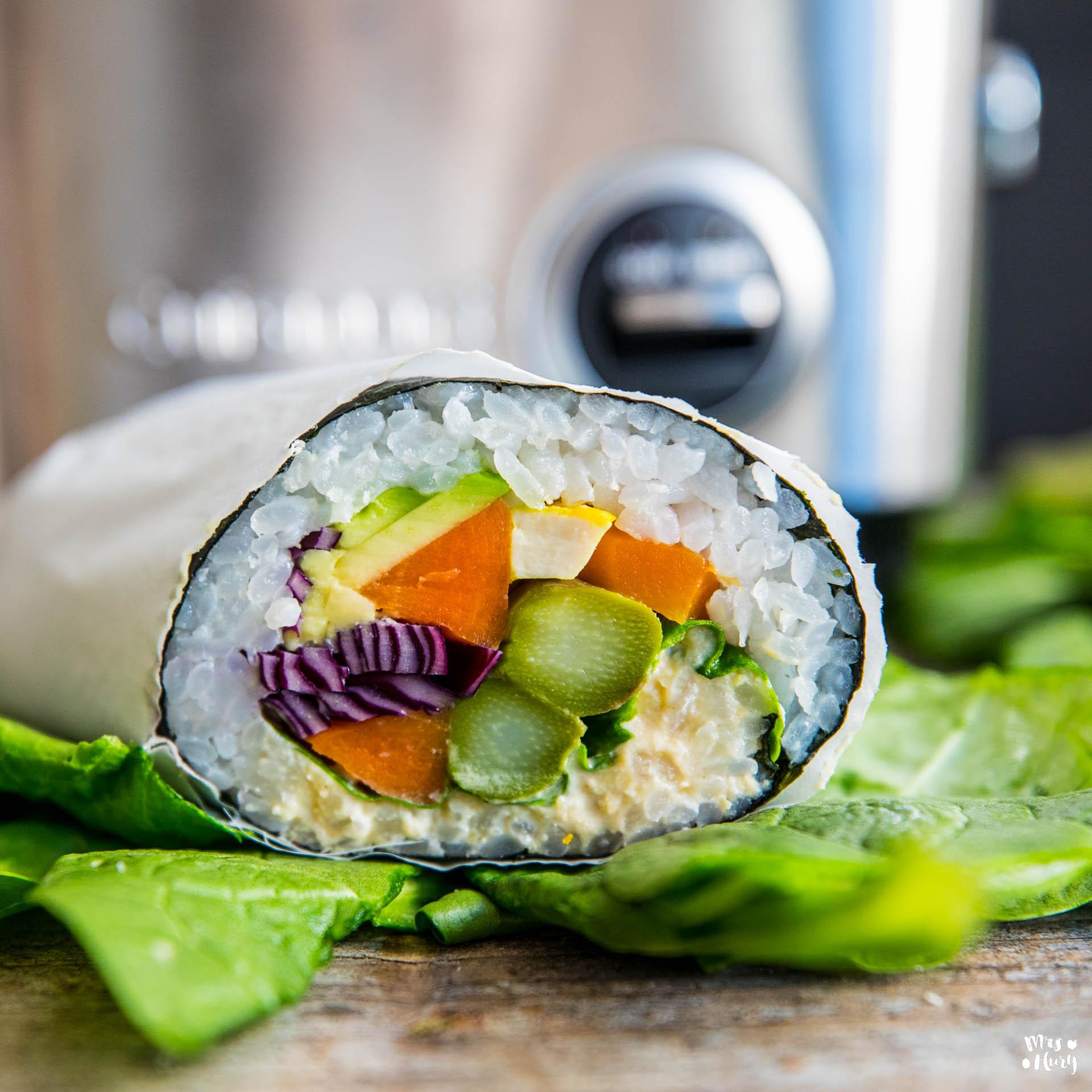 sushi burrito rezept vegan mrs flury gesund essen leben. Black Bedroom Furniture Sets. Home Design Ideas