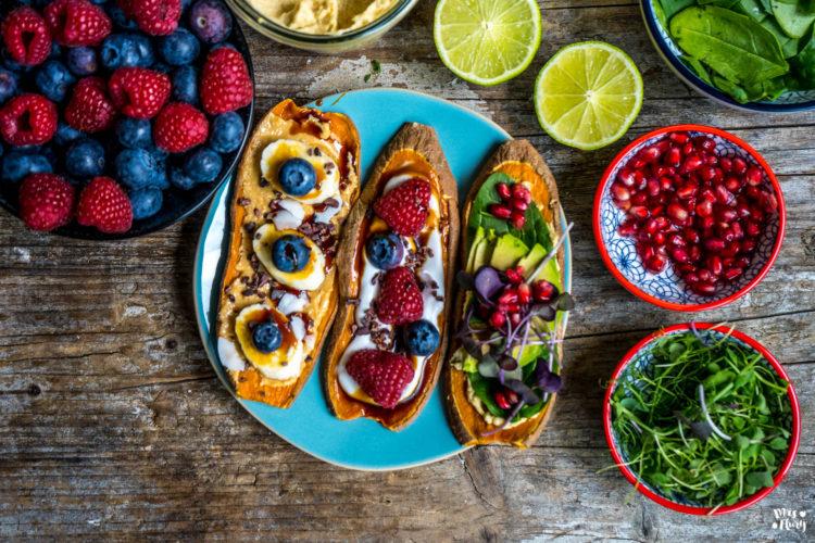 3 Essentials für eine gesunde Ernährung – Süsskartoffeln, Erdnussbutter & Hummus