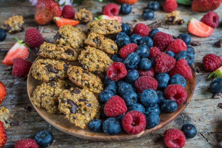 Gesunde Frühstücks Cookies vegan nur 4 Zutaten Mrs Flury