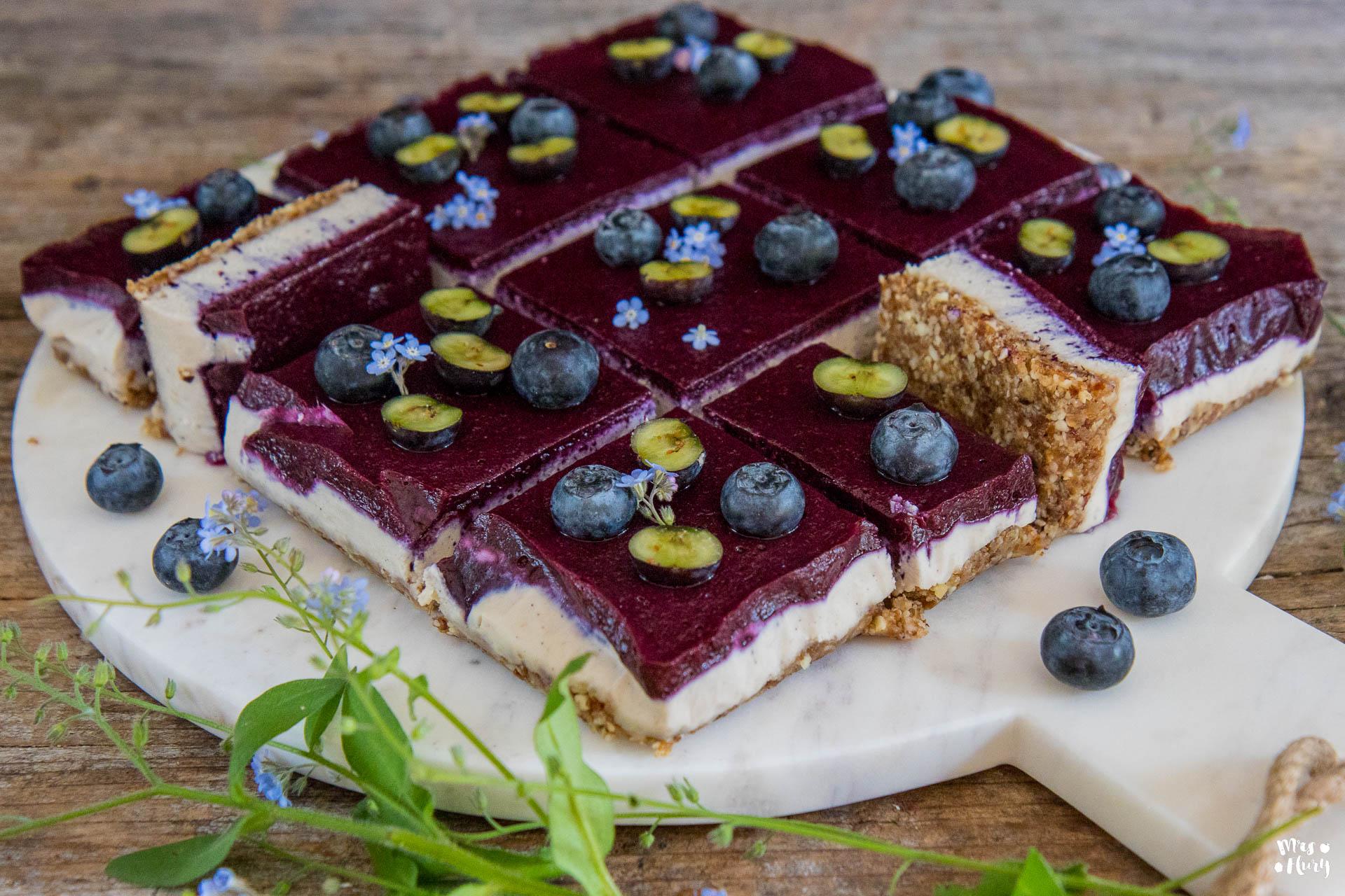 blueberry cocos cheesecake vegan mrs flury gesund essen leben. Black Bedroom Furniture Sets. Home Design Ideas