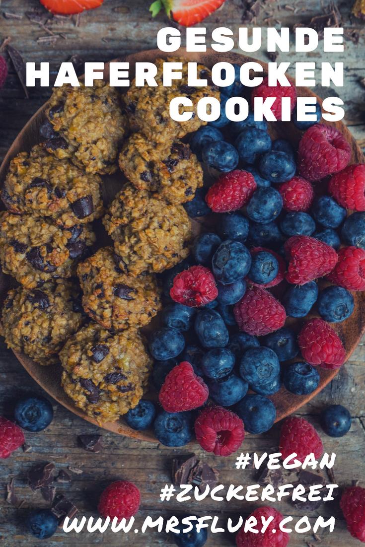 Gesunde Haferflocken Cookies 4 Zutaten Mrs Flury
