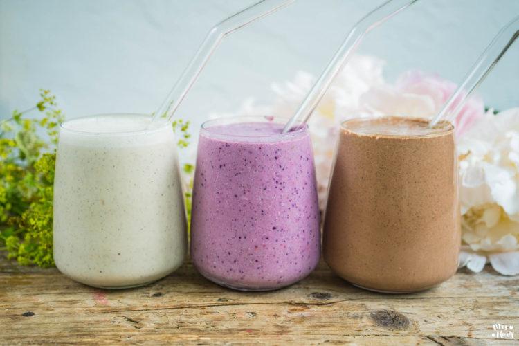 3 vegane Proteinshakes ohne Proteinpulver