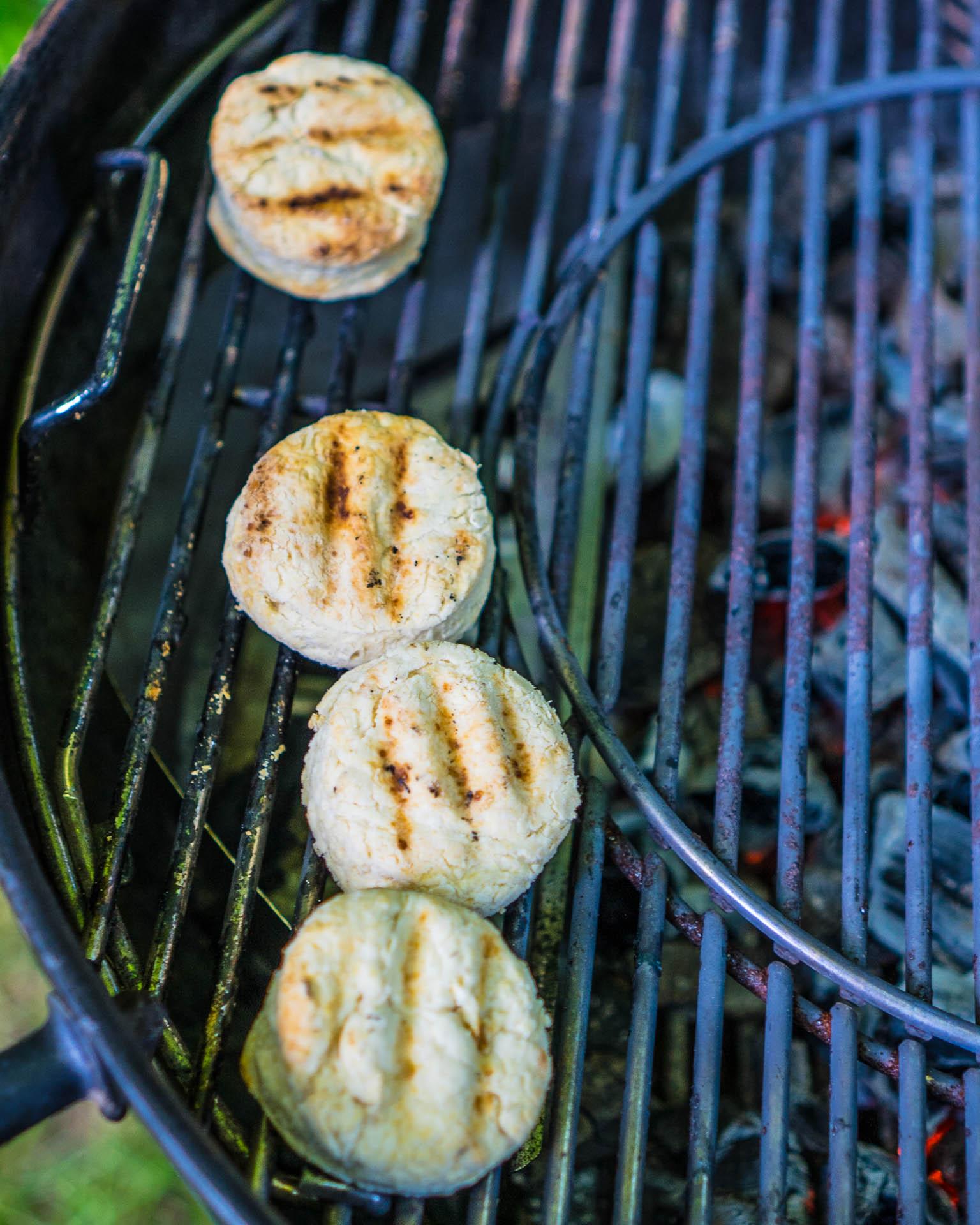 Scones Rezept vom Grill vegan