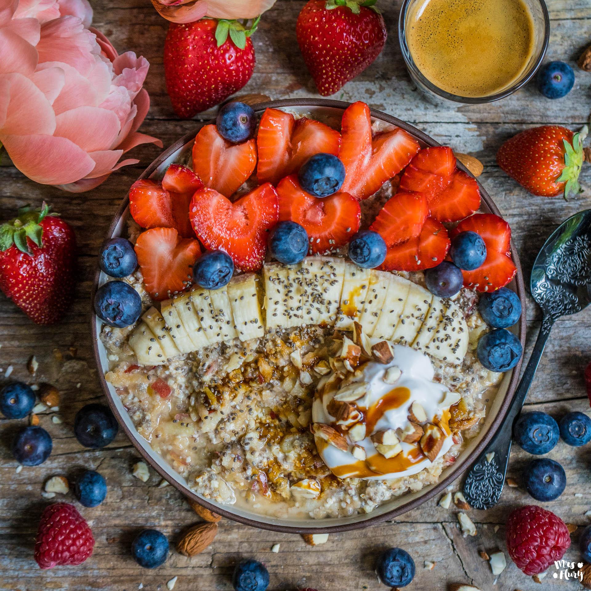 Mandel Birchermüesli vegan gesund Mrs Flury