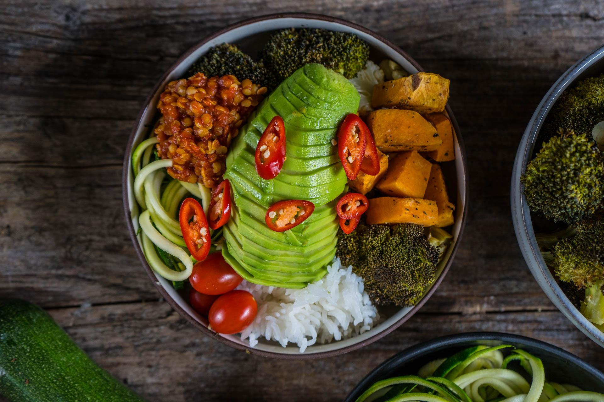 Meal Prep - Rainbow Bowl vegan Mrs Flury