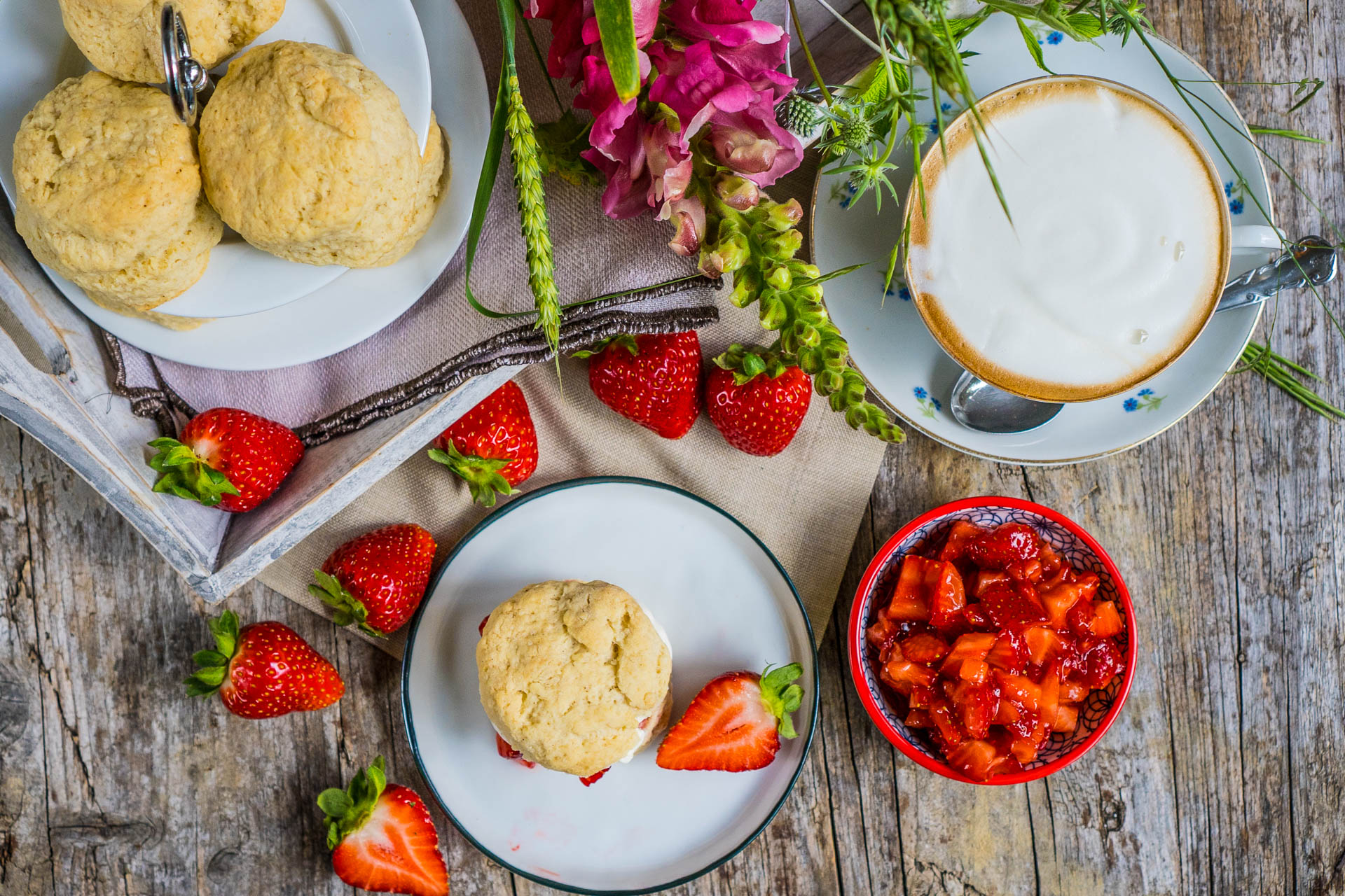 Gesunde Scones vegan backen Mrs Flury