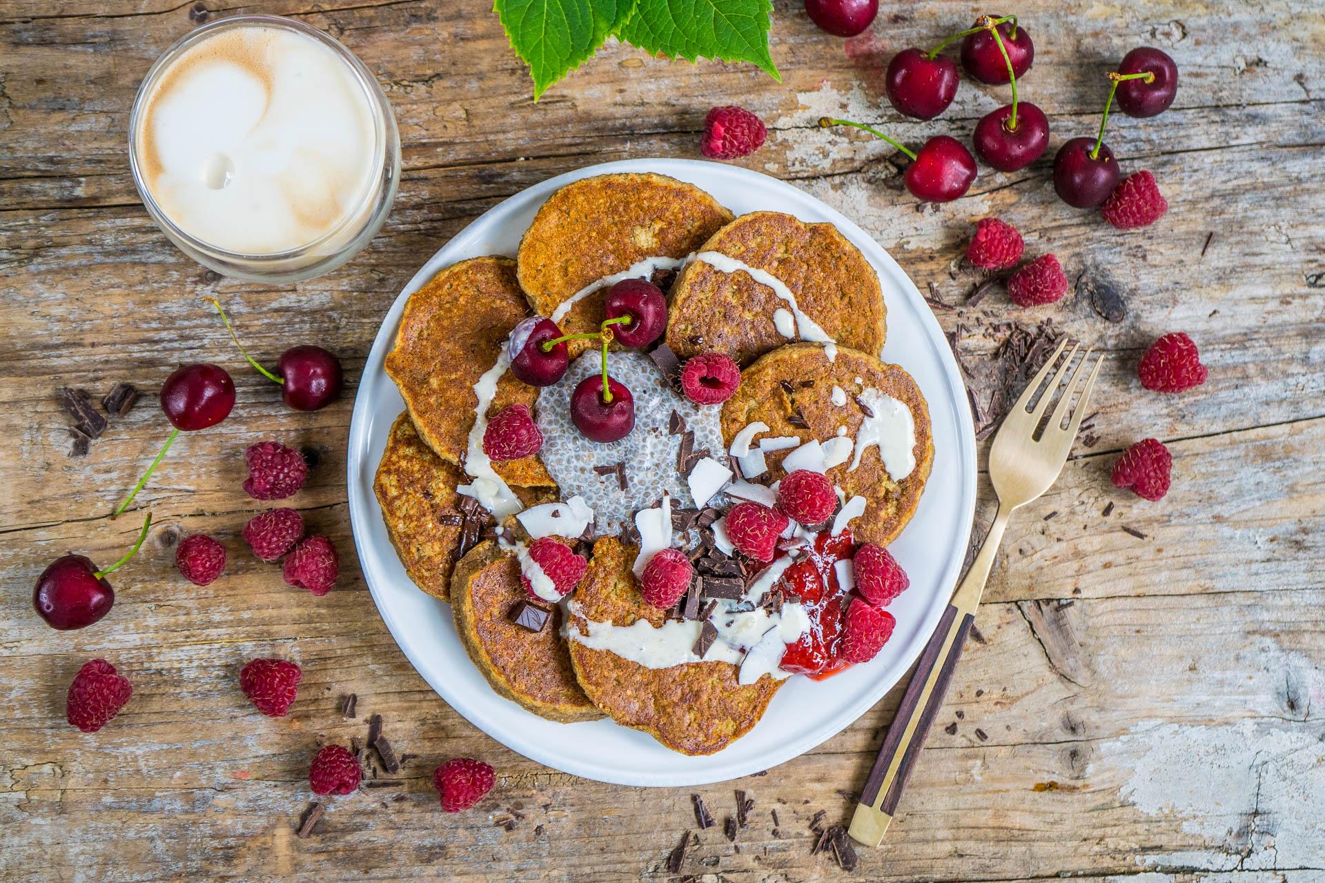 Vegane Protein Pancakes mit Quinoa