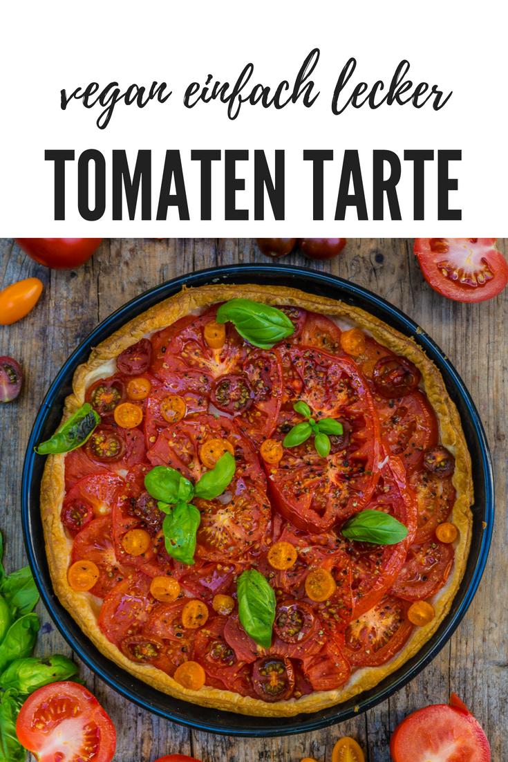 Einfache Tomaten Tarte vegan