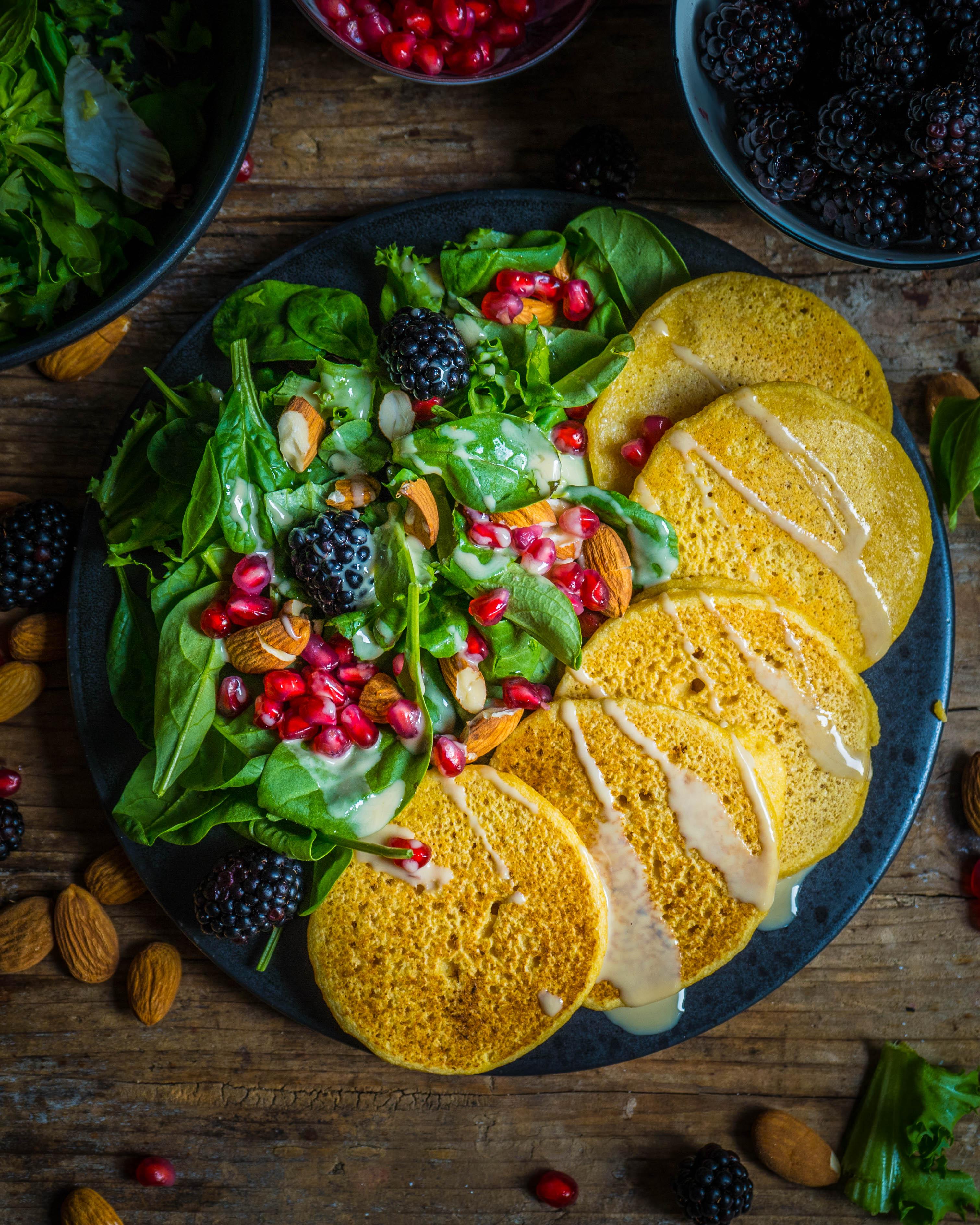 Kichererbsen Pancakes vegan & glutenfrei