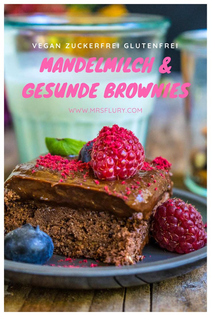 Mandelmilch selber machen & gesunde Brownies Rezept