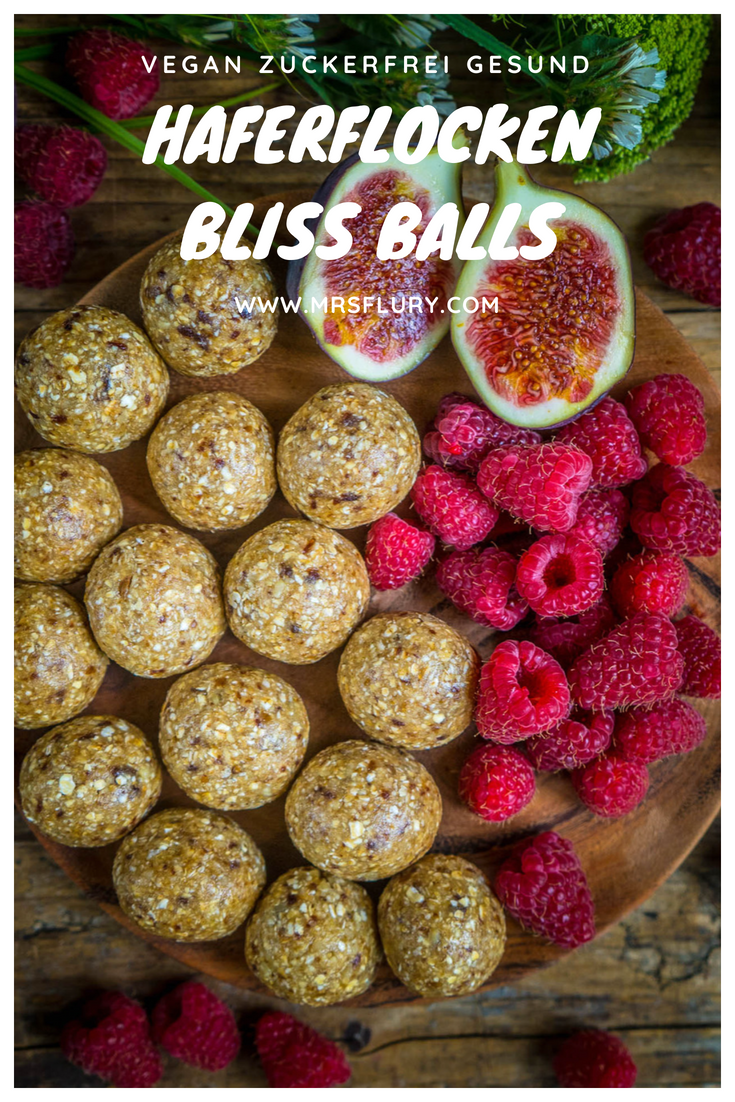 Haferflocken Bliss Balls vegan