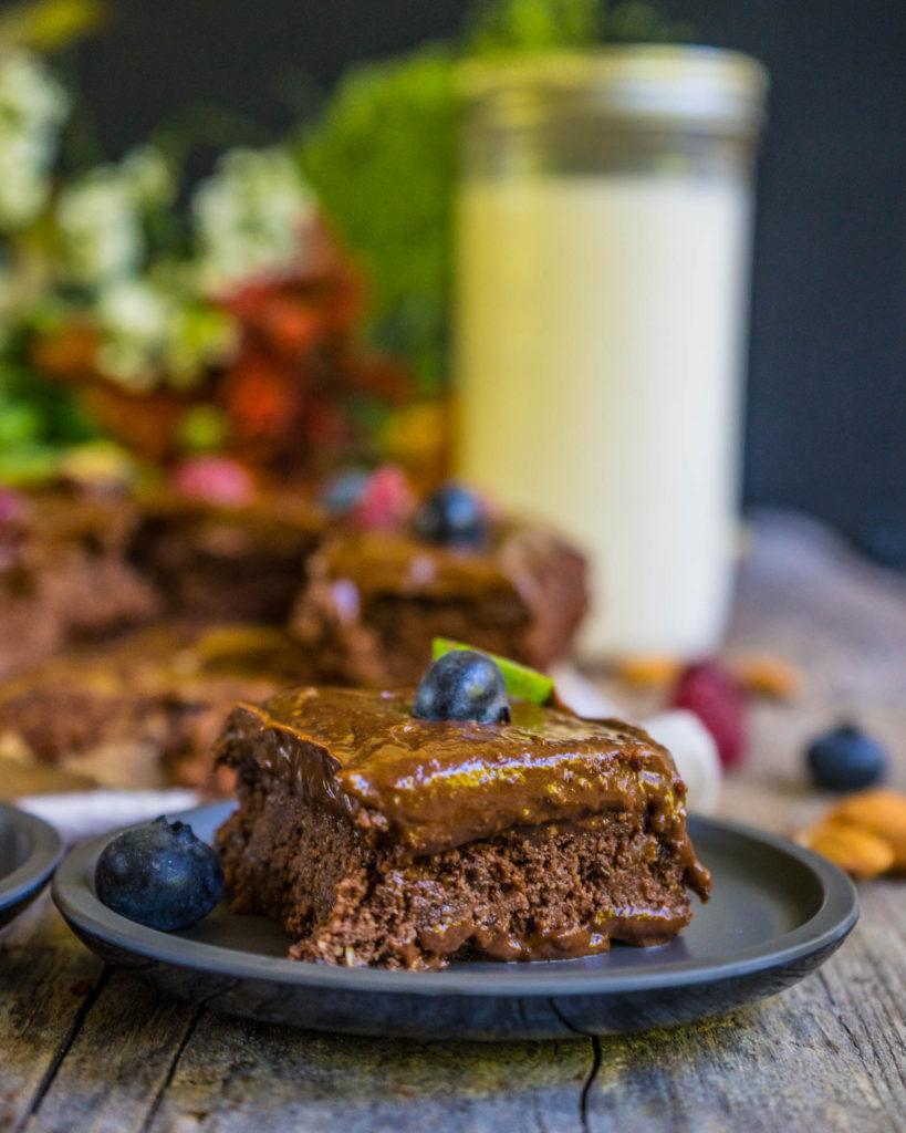 Mandelmilch und gesunde Brownies - Zero Waste Rezept Mrs Flury
