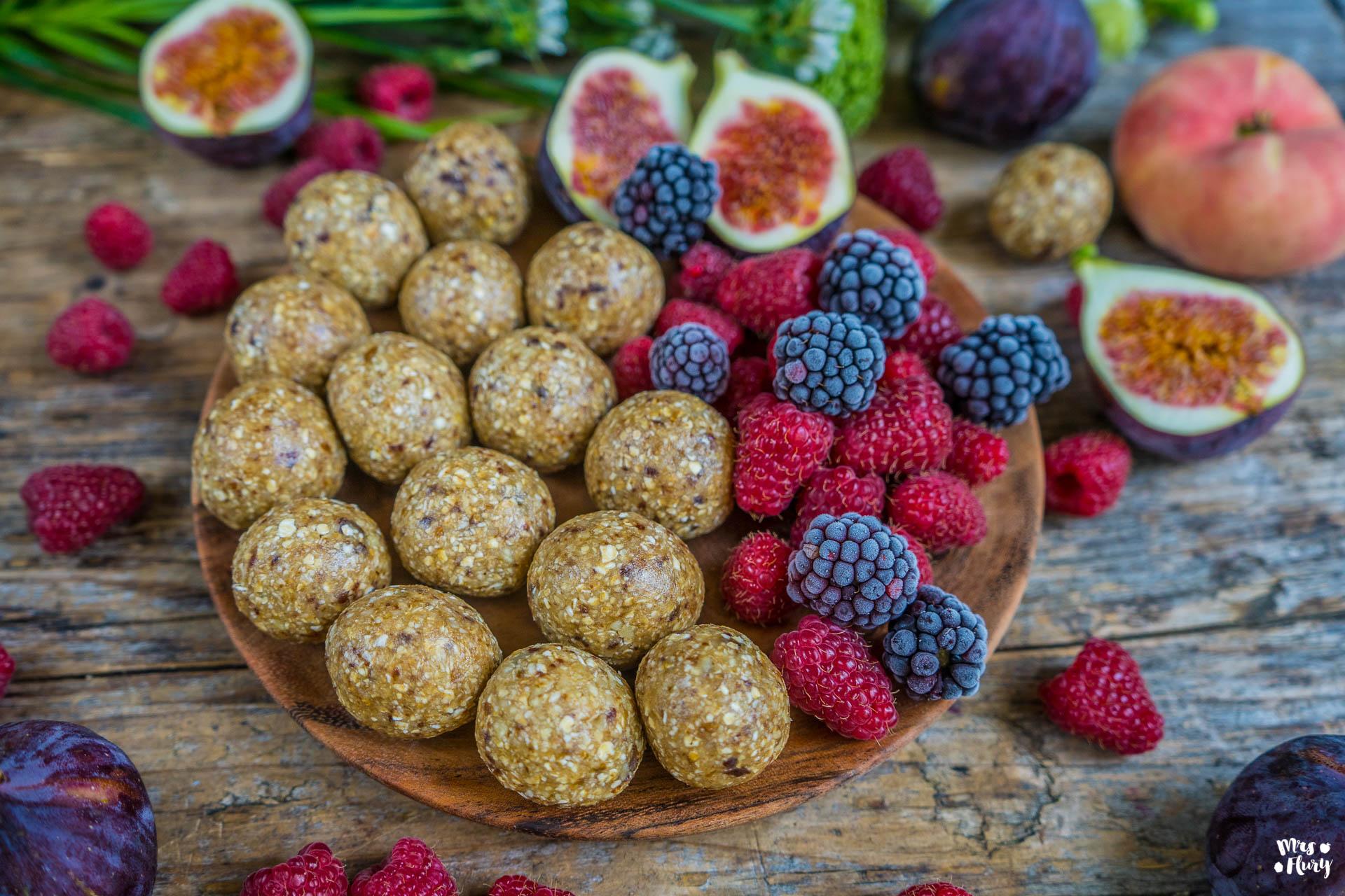 Haferflocken Bliss Balls Energiekugeln vegan zuckerfrei