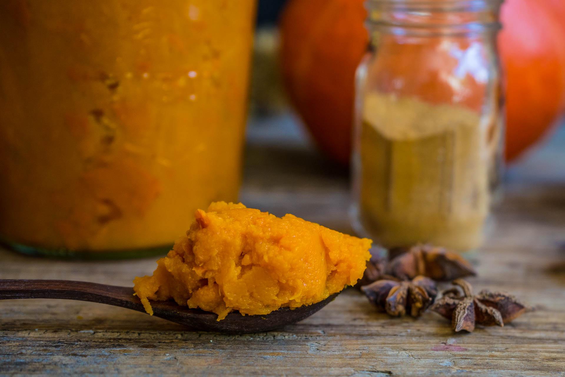 Kürbispüree und Pumpkin Spice Mrs Flury
