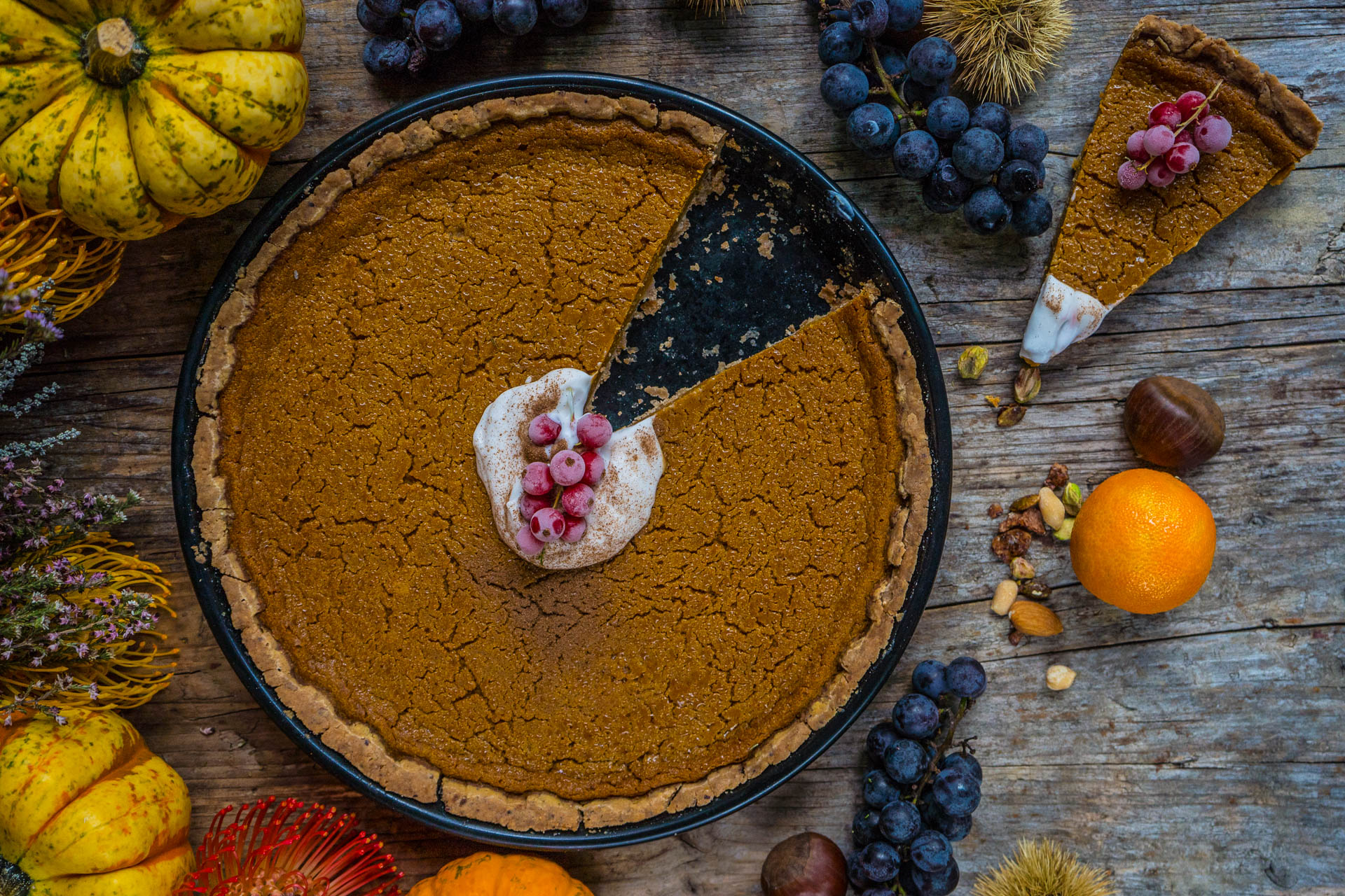 Gesunder Pumpkin Pie vegan glutenfrei Rezept Mrs Flury