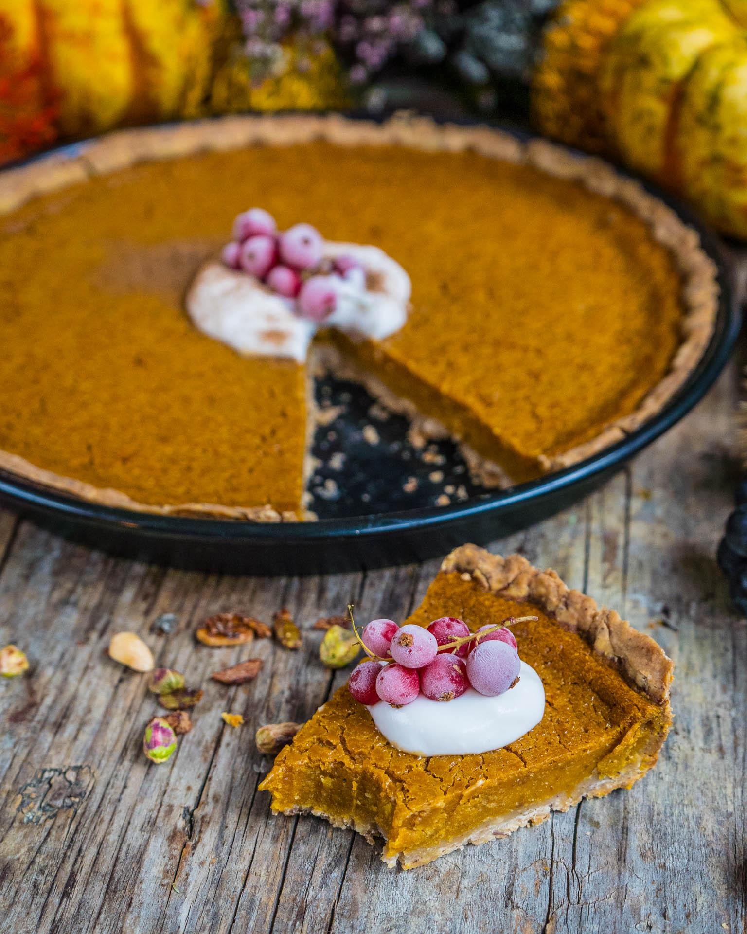 gesunder pumpkin pie vegan und glutenfrei mrs flury gesund essen leben. Black Bedroom Furniture Sets. Home Design Ideas