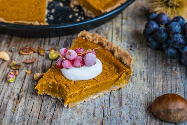 Gesunder Pumpkin Pie vegan und glutenfrei
