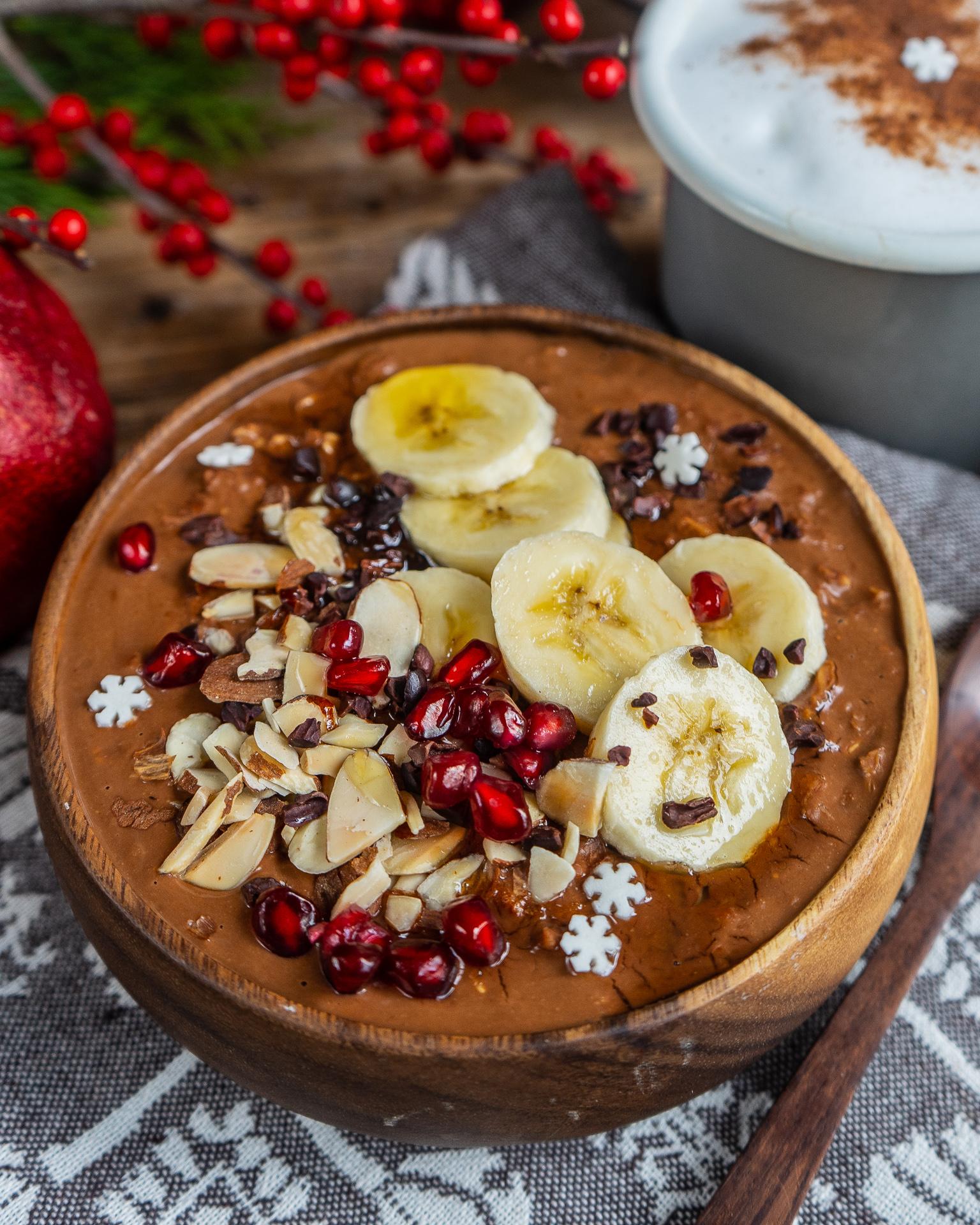 Gesunder Schoko Porridge vegan Mrs Flury Rezept