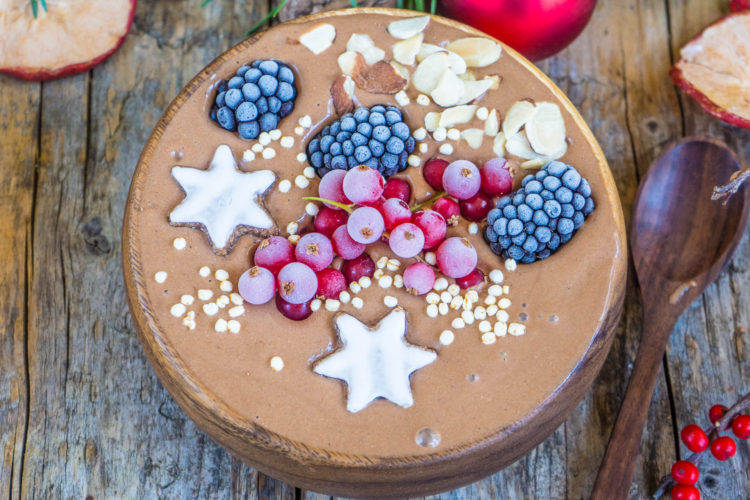 Lebkuchen Smoothie Bowl vegan Mrs Flury