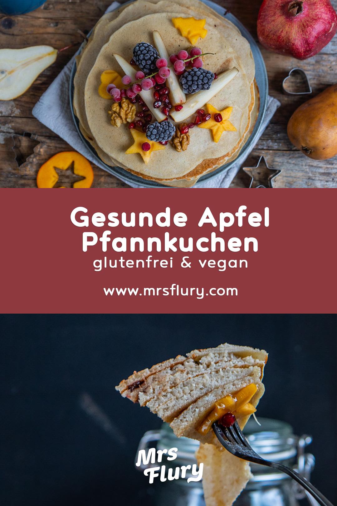 Gesunde Apfelpfannkuchen vegan & glutenfrei Mrs Flury