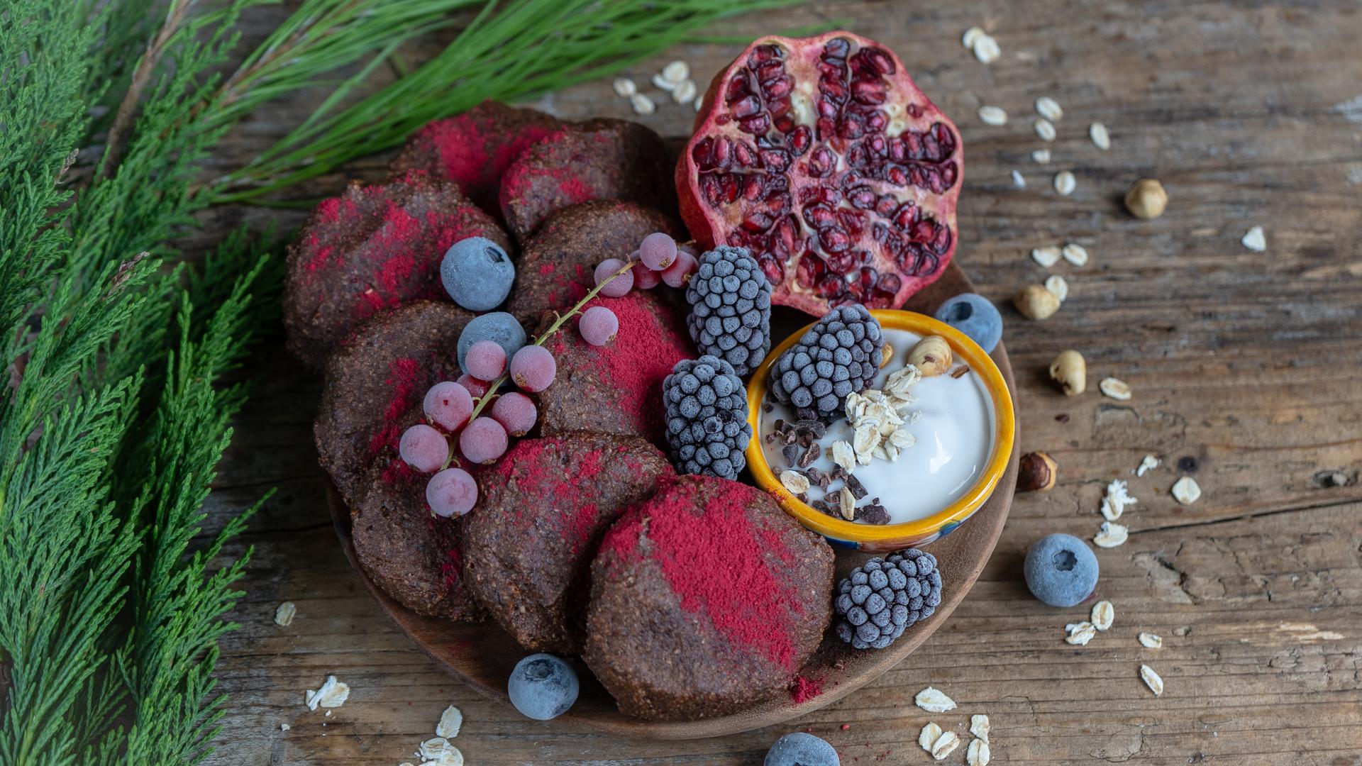 Gesunde Frühstück Kekse vegan gesund / ideal zum Vorbereiten Mrs Flury