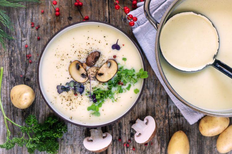 Entschlackende Kartoffelsuppe vegan