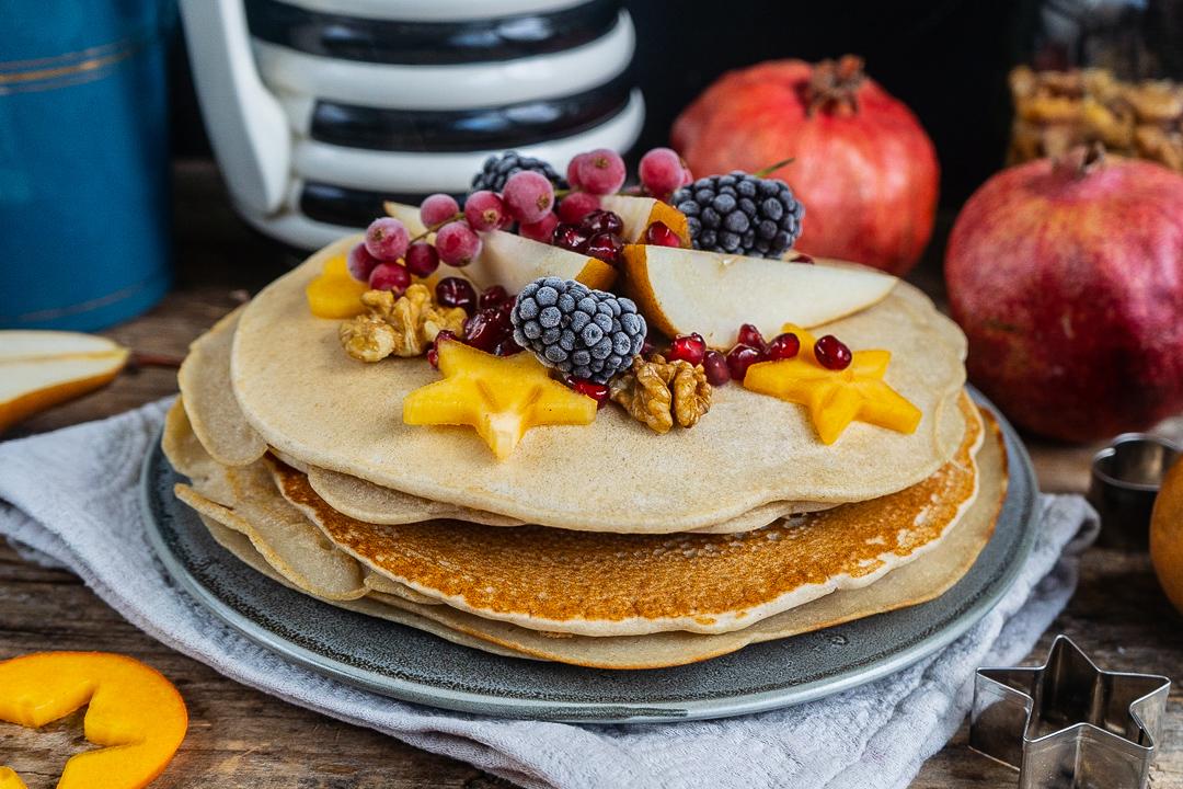 Apfelpfannkuchen vegan glutenfrei Mrs Flury
