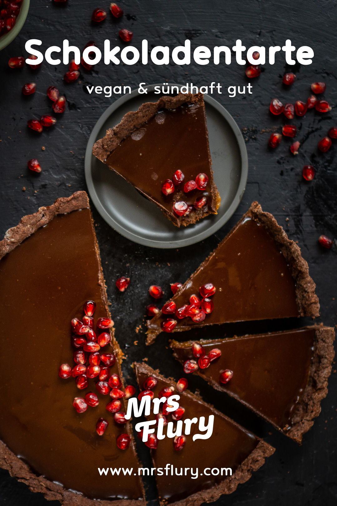 Schokoladen Tarte vegan Mrs Flury