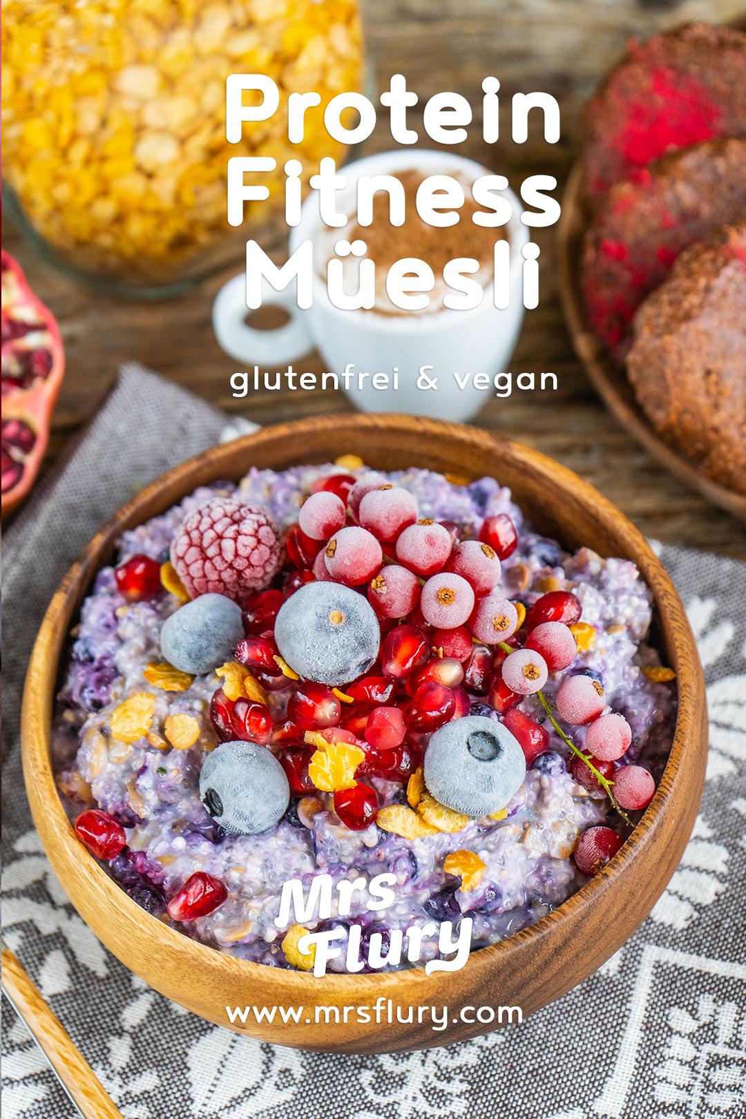 Fitness Protein Müesli Rezept vegan Mrs Flury