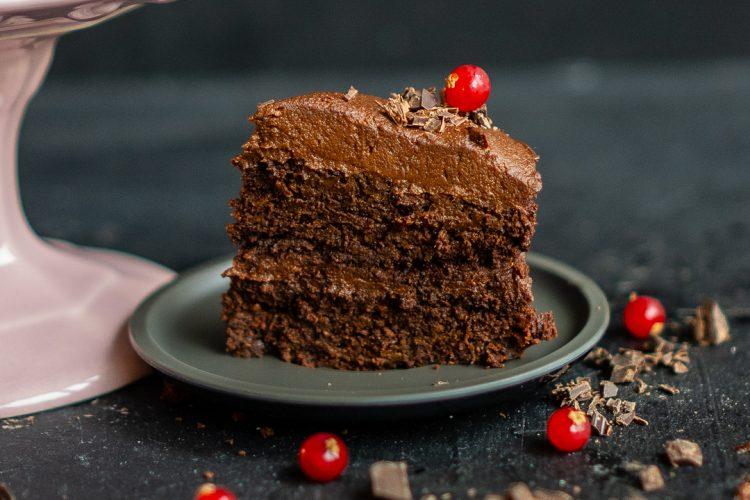 Gesunder Paleo Schoko Kuchen glutenfrei mit Süsskartoffel